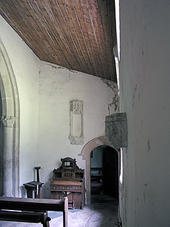 the end of the south aisle in Stetchworth